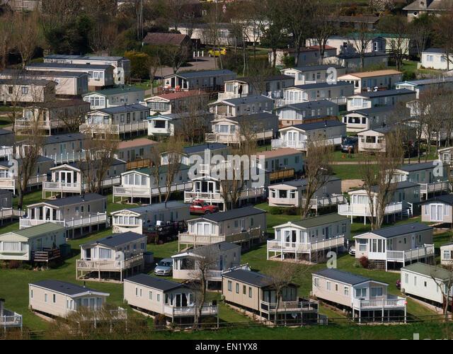 static caravan park uk stock photos static caravan park