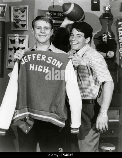 Actors Ron Howard and Anson Williams in the TV series Happy Days - Stock Image