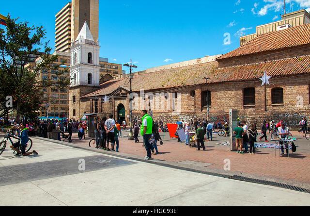 City streets of Bogota - Stock Image