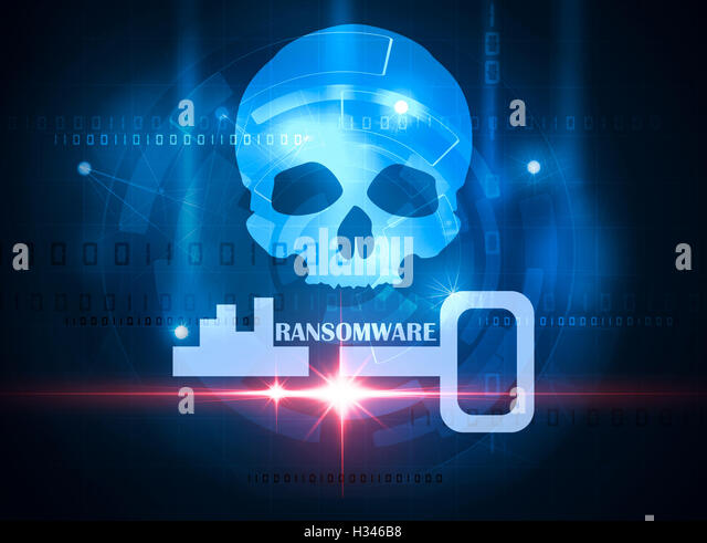 ransomware alert - Stock Image