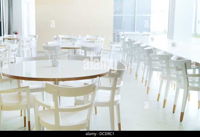White furniture in really bright room - Stock Image