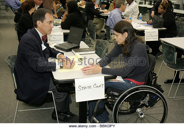 Miami Florida Miami Dade College Wolfson Campus Homeowners Legal Assistance Program free lawyer help economic crisis - Stock Image