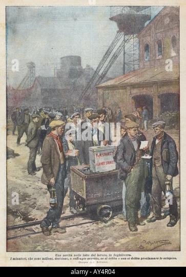 Miners Strike  1920 - Stock Image