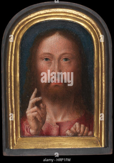 Christ Blessing by Gerard David - Stock Image