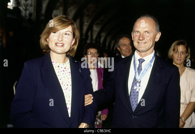 Piech, Ferdinand, * 17.4.1937, Austrian businessman, with wife, Antiquarium of the Residenz, Munich, 17.7.1992, - Stock Image