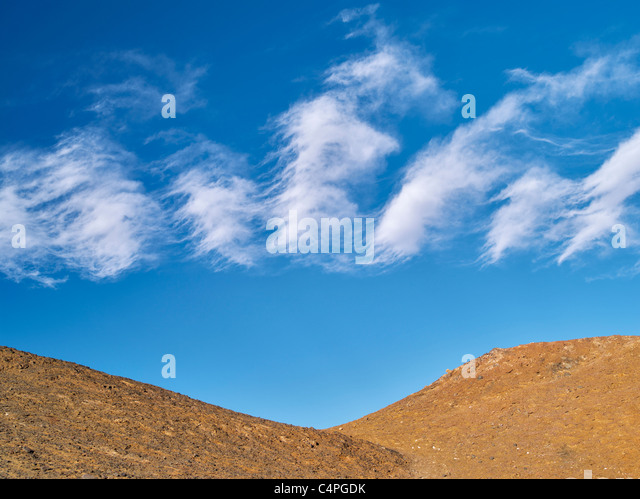 Unusual clouds over Death Valley National Park, California. - Stock Image