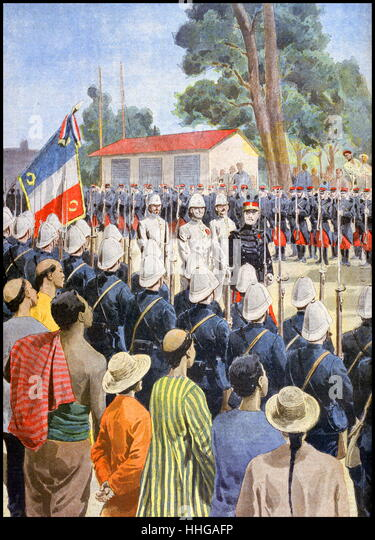 French General Émile Régis Voyron, became commander of the French Expeditionary Corps in China in 1900 - Stock Image