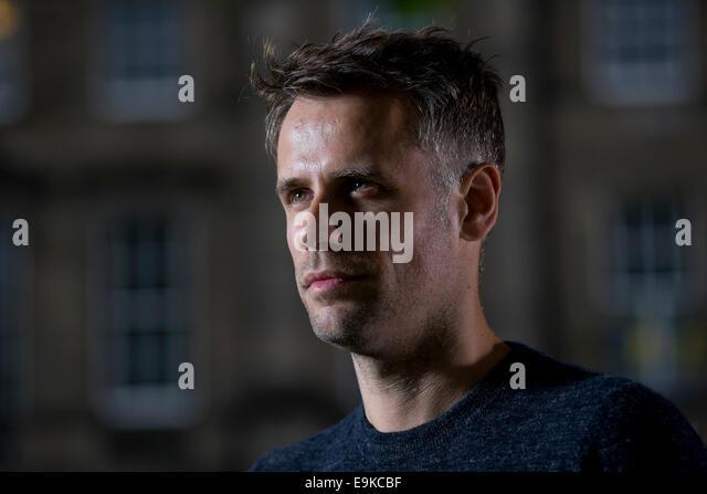 British television and radio presenter Richard Bacon appears at the Edinburgh International Book Festival. - Stock Image