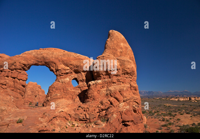 Turret Arch, Arches National Park, Moab, Utah, United States of America, North America - Stock Image