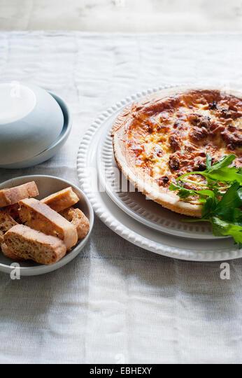 Ham quiche - Stock Image