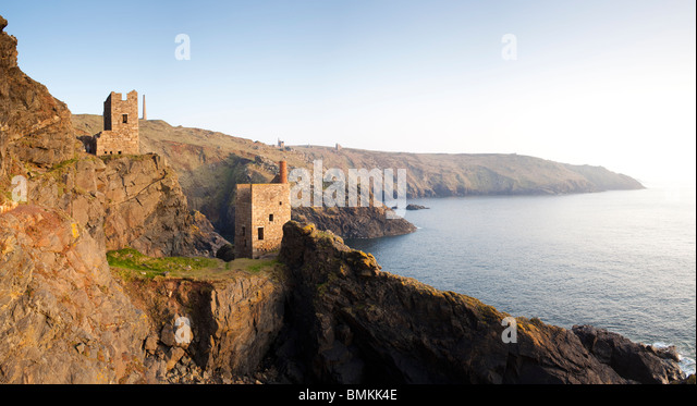 Crowns Engine Houses at Botallack Cornwall - Stock Image