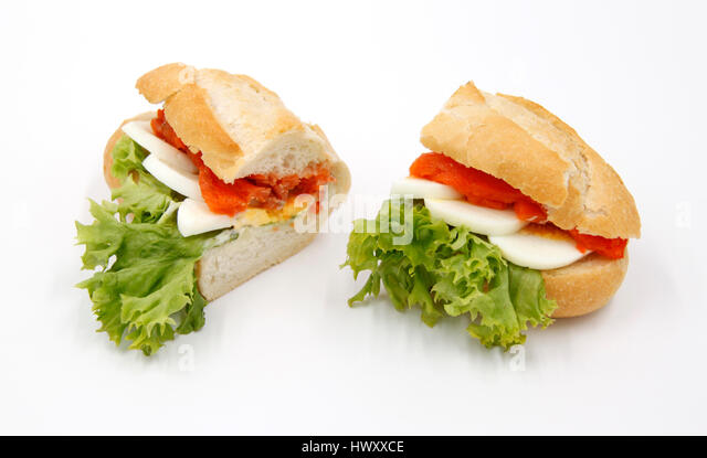salmon-egg-eggs-salad-bun-baguette-snack-fingerfood-ciabatta-seafood ...
