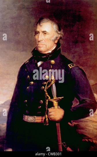 Zachary Taylor (1784-1850), U.S. President (1849-1850) - Stock-Bilder