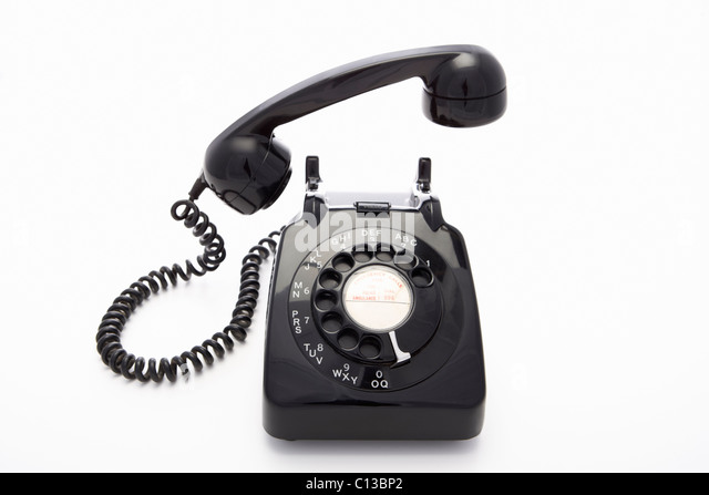 A rotary dial telephone - Stock Image