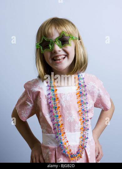 girl playing dress up - Stock Image