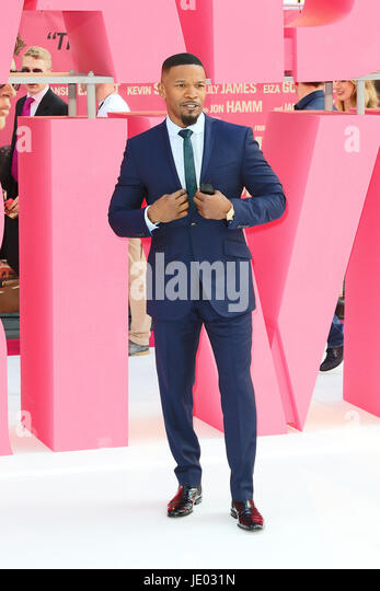 London, UK. 21st June, 2017. Jamie Foxx, Baby Driver - European film premiere, Leicester Square, London UK, 21 June - Stock Image