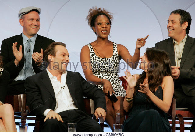 Actors Christian Slater (bottom L) and Yara Martinez (bottom R) along with (rear L-R) Mike O'Malley, Alfre Woodard - Stock Image