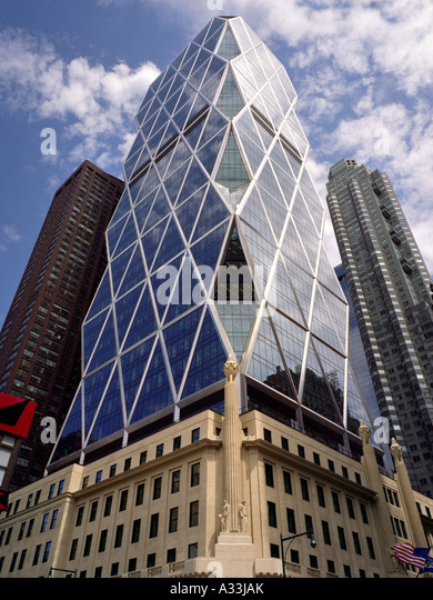 Hearst Tower, 300 West 57th Street, New York. 2006 Architect: Foster and Partners - Stock Image