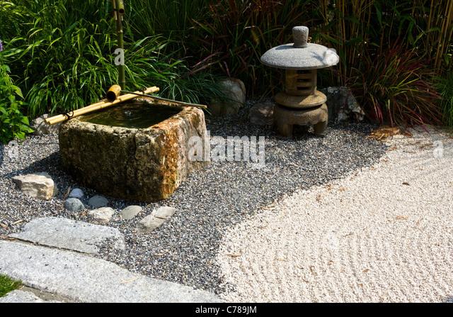 Japanese garden water stock photos japanese garden water for Japanese water garden plants