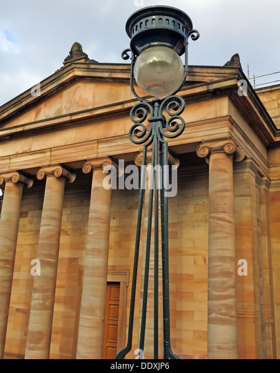 National Galleries of Scotland Edinburgh City, on the Mound, UK - Stock Image