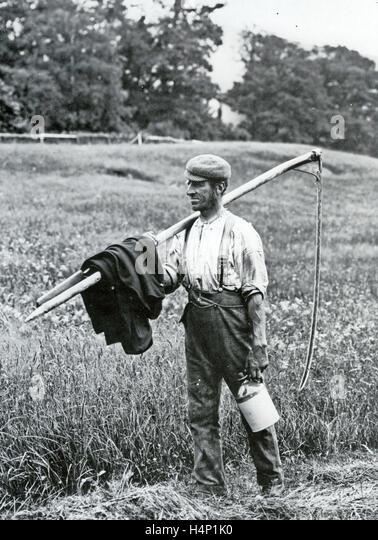 FARM LABOURER in Norfolk, England, about 1880 - Stock-Bilder