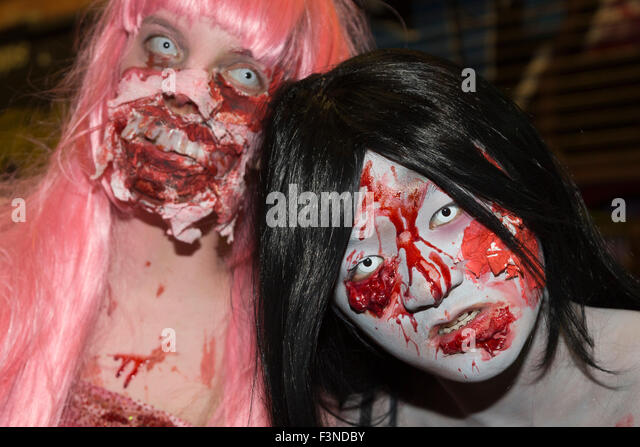 London, UK. 10/10/2015. World Zombie Day 2015 in London. The event raises money for the St Mungo's Broadway charity - Stock Image