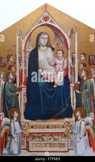 Madonna and Child Enthroned with Saints by Rafael