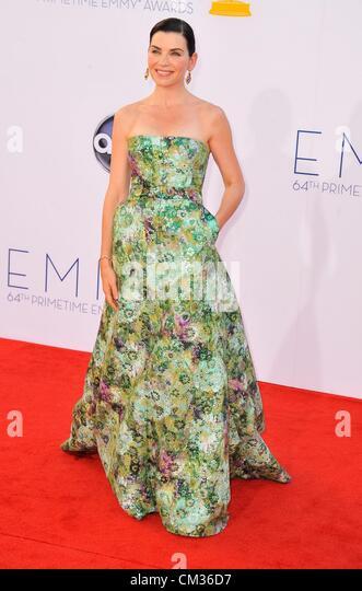Julianna Margulies arrivals64th Primetime Emmy Awards - ARRIVALS Nokia Theatre L.A LIVE Los Angeles CA September - Stock-Bilder