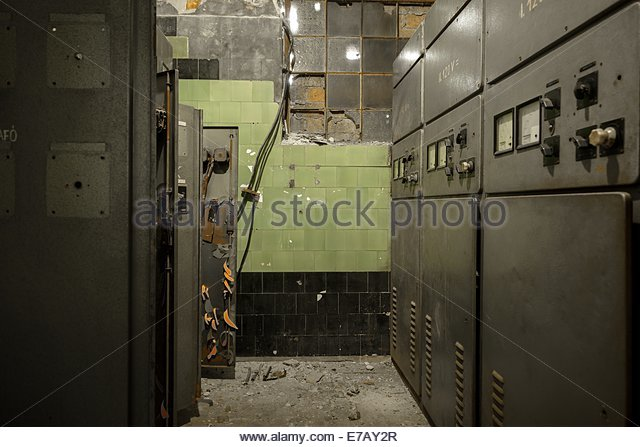 Control room of a power plant - Stock Image