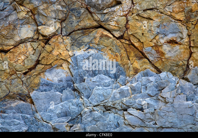 the old natural stone texture with cracks - Stock-Bilder