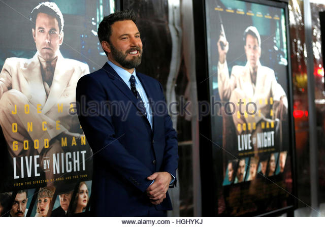 Director and cast member Ben Affleck poses at the premiere of 'Live by Night' in Hollywood, California U.S., - Stock Image