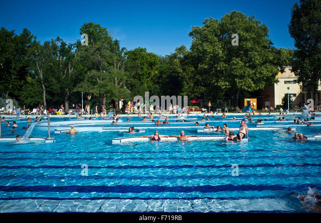 Margaret island swimming pool budapest spa stock photos - Margaret island budapest swimming pool ...