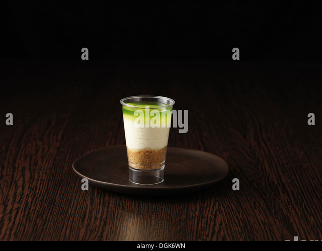 Still life of key lime pie - Stock Image