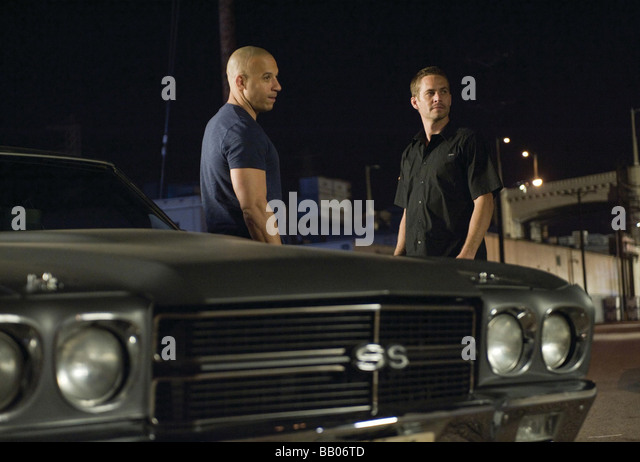 Fast and Furious Year : 2009 Director : Justin Lin Vin Diesel, Paul Walker - Stock Image
