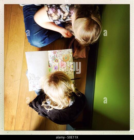 Kids drawing - Stock-Bilder
