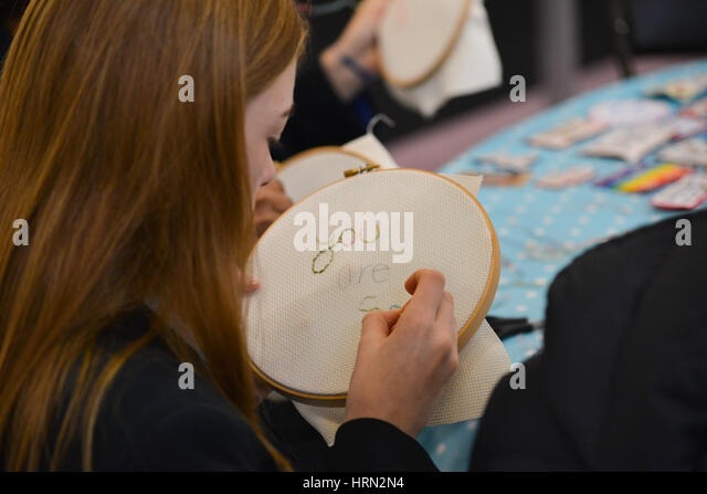 Knitting And Stitching Show 2017 Olympia : Products Of Arts And Crafts Stock Photos & Products Of Arts And Crafts St...
