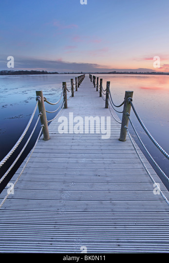 Jetty at Oxford Island, Northern Ireland. - Stock Image