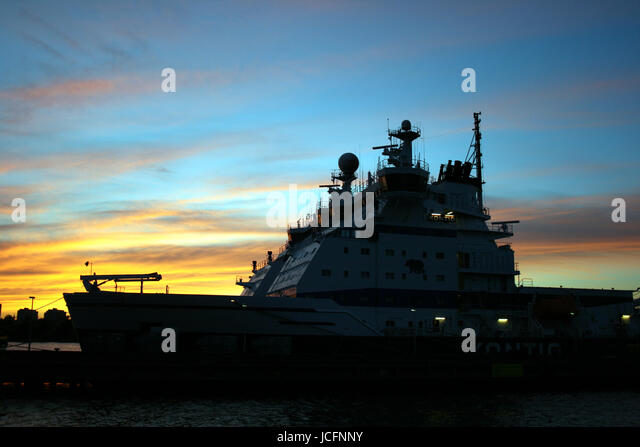 Icebreaker in the harbour of Helsinki - Stock Image