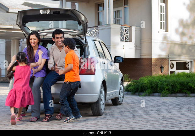 Family having fun - Stock Image