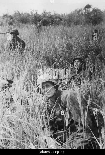 Soldiers of the Waffen-SS in Russia, 1941 - Stock-Bilder