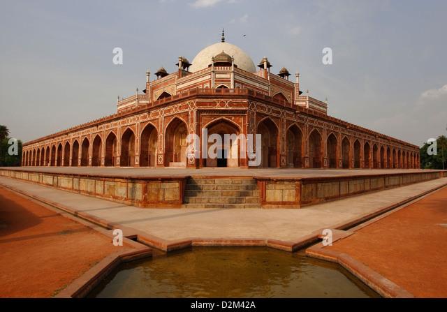Humayun's Tomb, Delhi, India, Indien - Stock-Bilder
