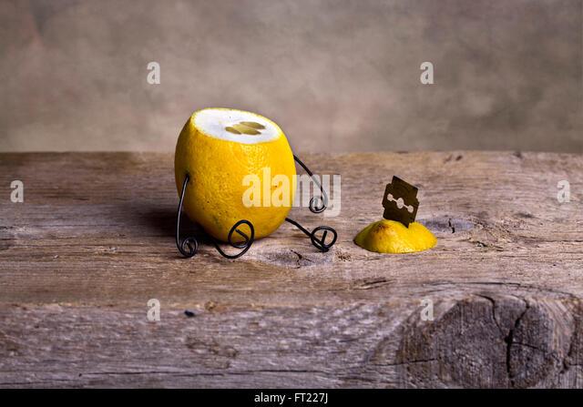 Stilleben mit Zitrone - Simple Things - Stock-Bilder