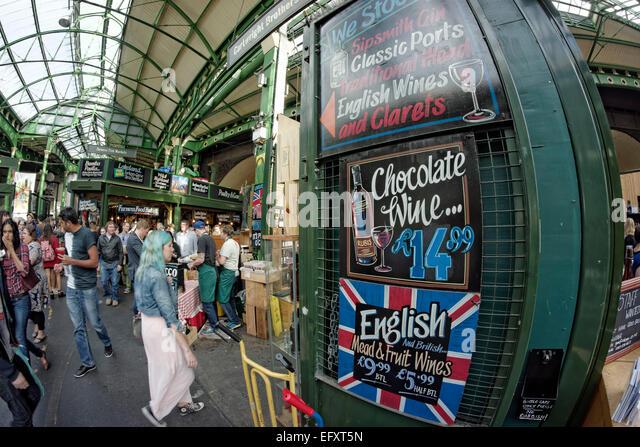 Boroughs Market, London,  United Kingdom, - Stock Image