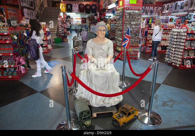 'Love London' tourist souvenir shop in Leicester Square, London, England, UK - Stock Image