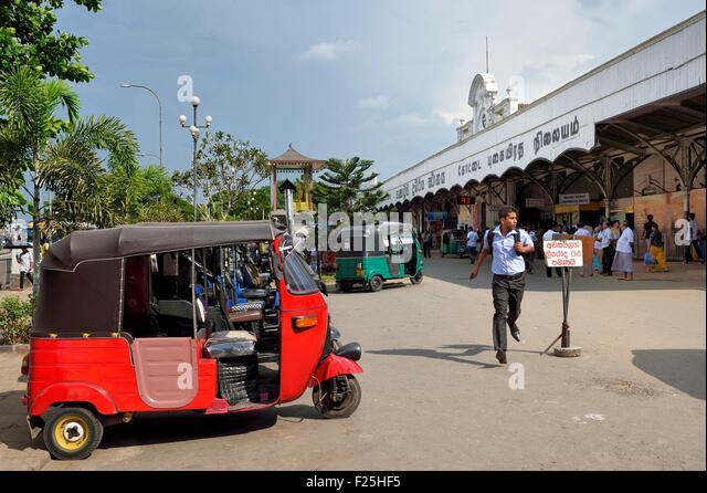 Sri Lanka, Colombo, Colombo Fort train station - Stock Image