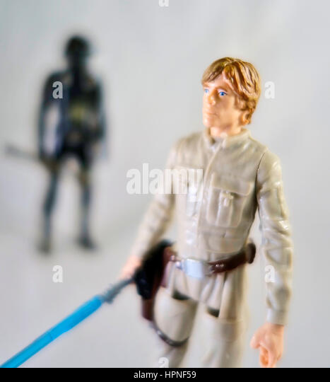 A Luke Skywalker Star Wars action figure - Stock Image