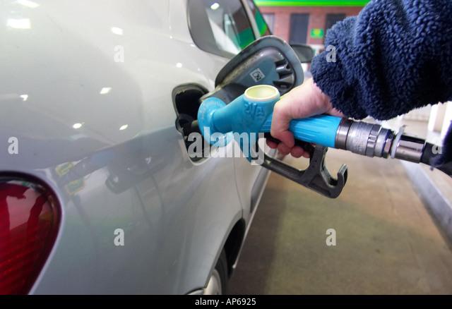 Gas oil fuel petrol station pump - Stock-Bilder