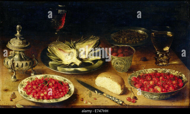 Still Life - attributed to Osias Beert, 1600 - 1624 - Stock Image