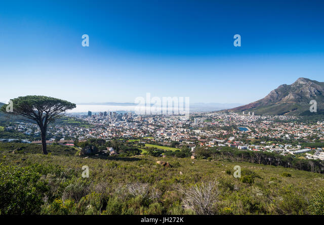 View over Cape Town, South Africa, Africa - Stock Image
