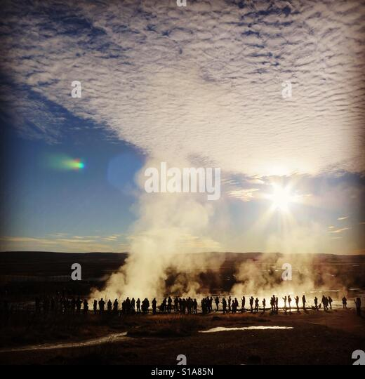 Geysir area - Stock-Bilder